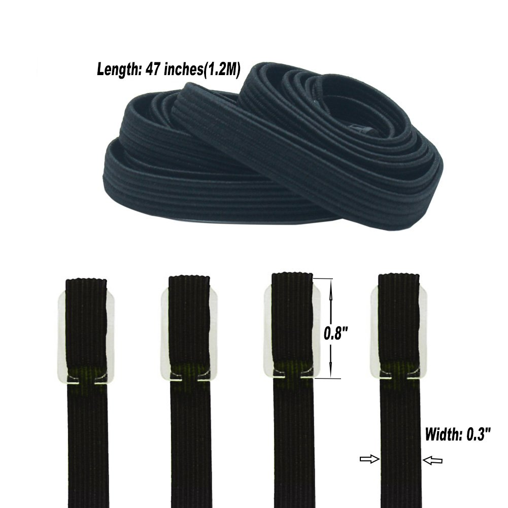 Fit All Shoes QIUQUEEN Elastic No Tie Shoelaces for Adults and Kids Two Types of Locks