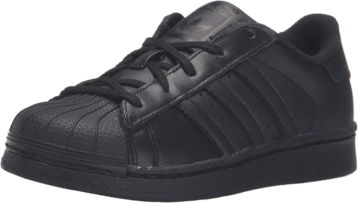 adidas Originals Superstar, Basket Mixte Enfant Noir Core Black Core Black