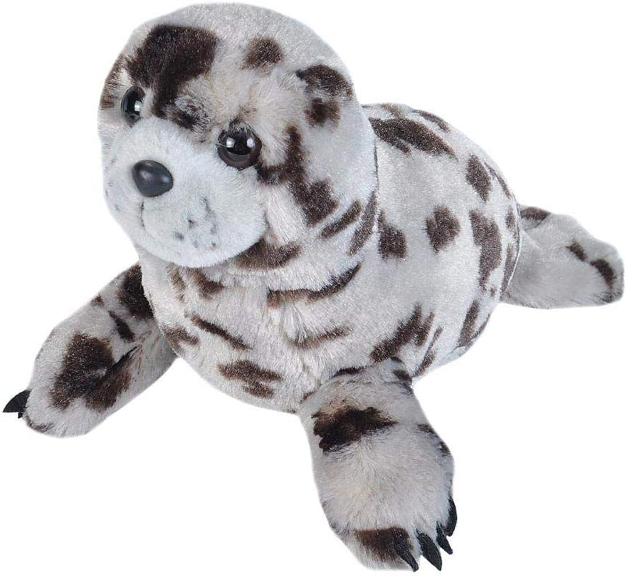 Wild Republic Harbor Seal Plush Soft Toy, Cuddlekins Cuddly Toys, Gifts for Kids 30 cm