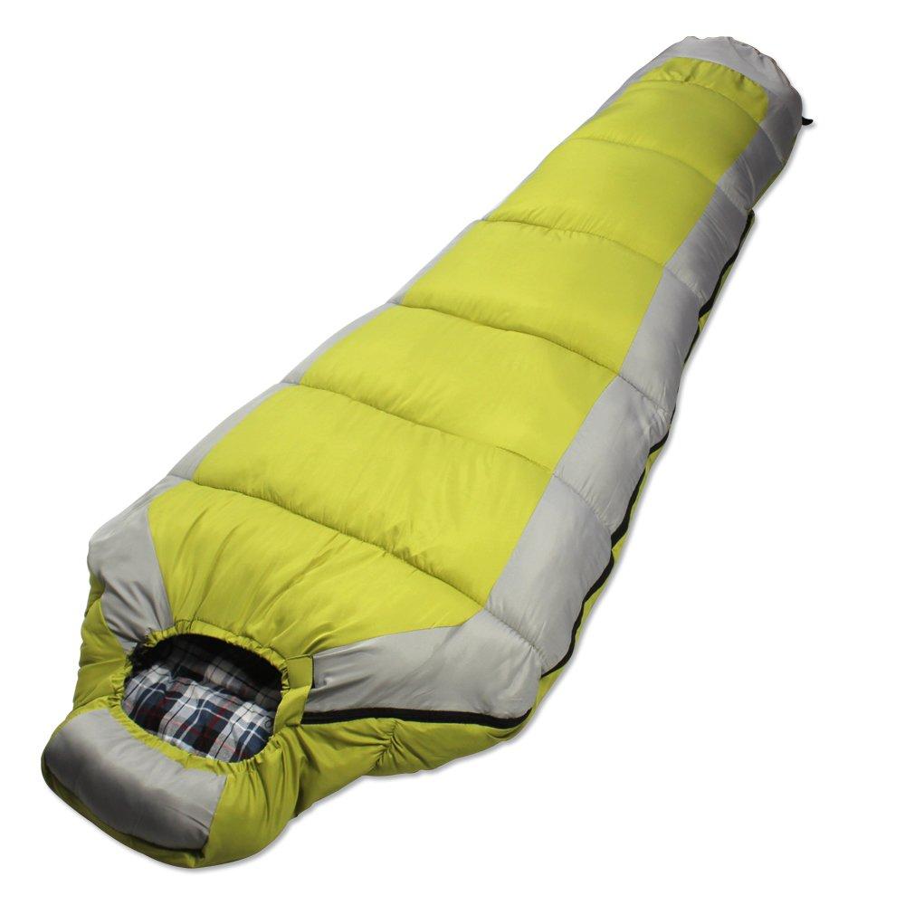 LJHA shuidai Mama Schlafsack Baumwolle Longen Outdoor Camping Wandern Ideal für 4 Saison Schlafsack mit Kompression Tasche 230  80 (50) cm