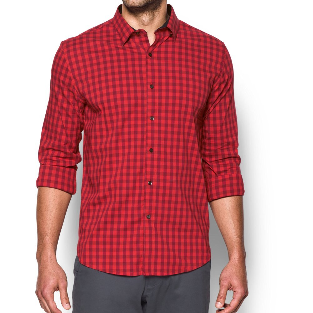 Under Armour Men's Performance Woven Shirt, Red/Cardinal, Small