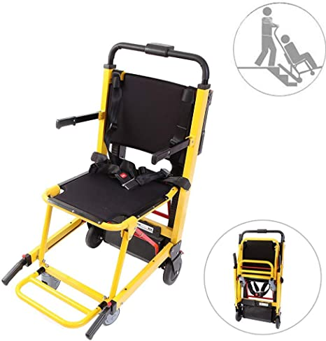MJ-Brand Silla de Ruedas para Subir escaleras eléctricas Crawler La Ayuda de Movilidad Plegable Puede ser como Dispositivos de elevación Camilla Capacidad de Carga 365 LB para Personas Mayores: Amazon.es: Hogar
