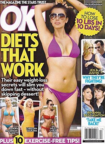 Diets That Work  Kim Kardashian  Miley Cyrus  Christina Aguilera   Kendra Wilkinson Baskett  L Jennifer Aniston   Justin Theroux L Rihanna   Ashton Kutcher   April 23  2012 Ok