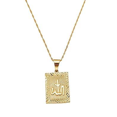 Amazon platinum 24k new islamic allah pendant charms choker platinum 24k new islamic allah pendant charms choker necklace religious muslim jewelry gold 1 aloadofball Gallery
