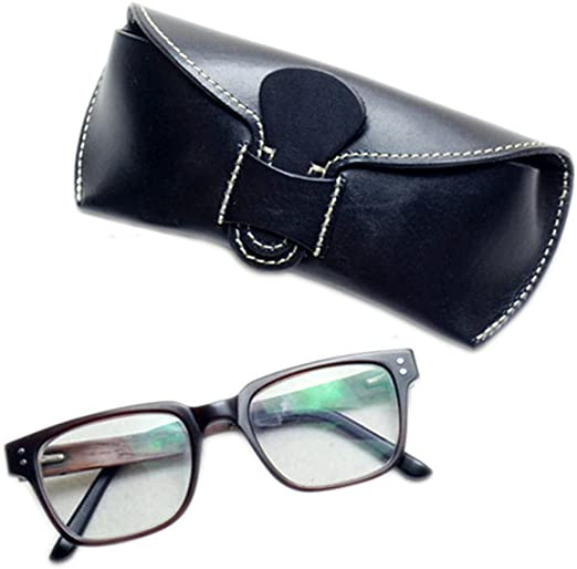 Real Genuine Soft Leather Slimline Glasses Spectacle Case
