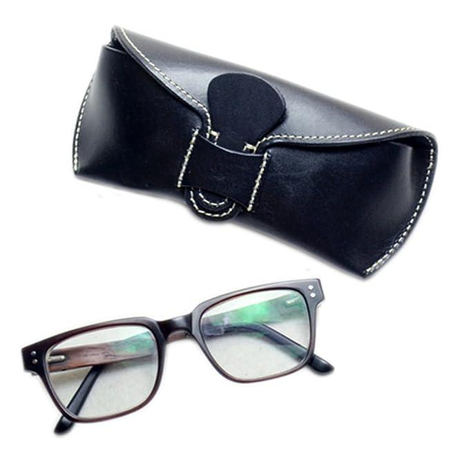 Amazon.com: Boshiho - Funda de piel de vaca para gafas de ...