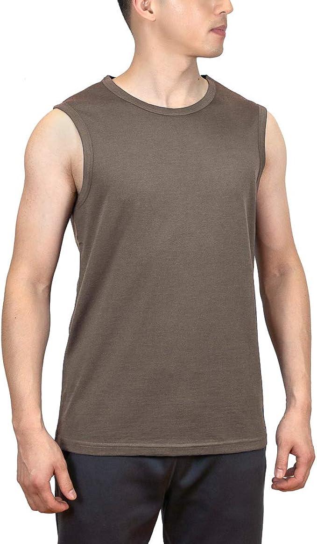 Sheep Run 100/% Merino Wool Mens Lightweight Moisture Wicking Breathable Tank Top
