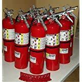 Pack Of (10) Business Fire Extinguisher, 10 LB. ABC Fire Extinguisher 4A 80B:C (Tagged) Certified, Ready For Fire Inspections. Included, Certification Tags, Wall Hook Brackets, Screws and Arrows Signs