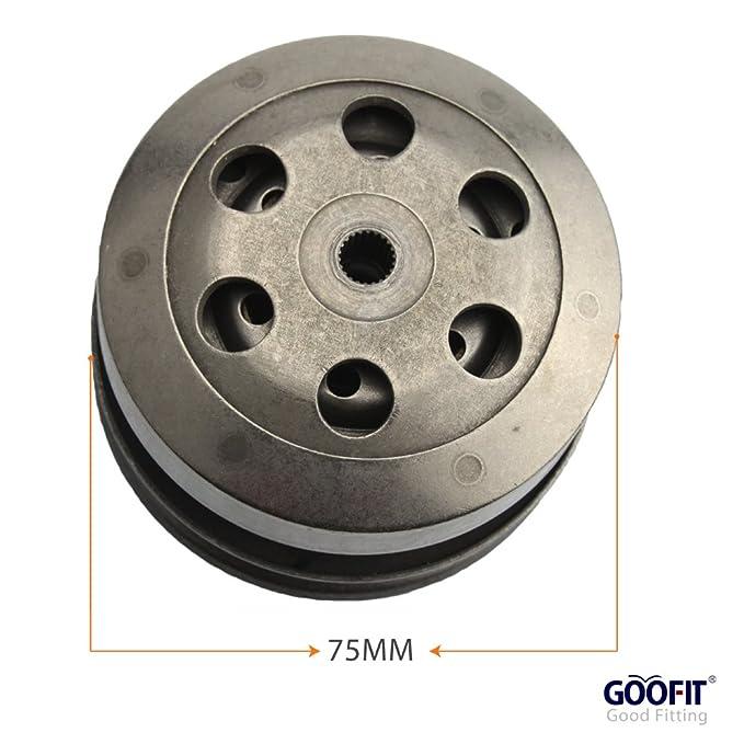 GOOFIT completa Asamblea embrague GY6 50 cc 60 cc 80 cc 139QMB motores parte Scooter Ciclomotor: Amazon.es: Coche y moto