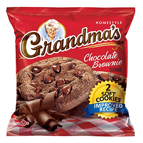 Grandmas Chocolate Chip - Grandma's Fudge Chocolate Chip Cookie - 2 cookie per pk. - 60 ct. - SCL