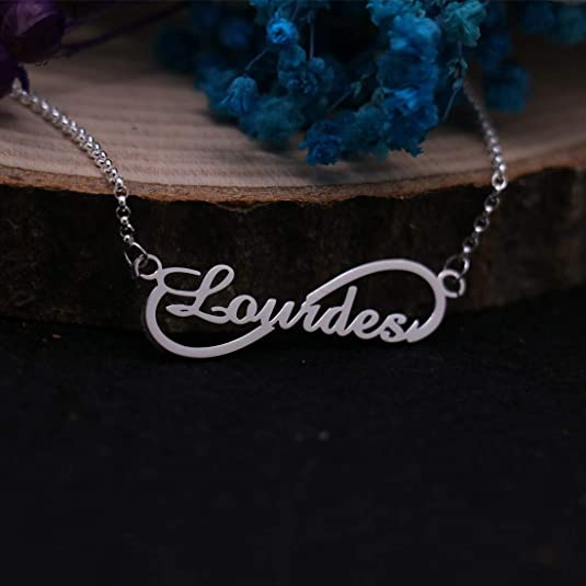 KIKISHOPQ Infinity Symbol Custom Name Necklace for Girlfriend Moms Best Present