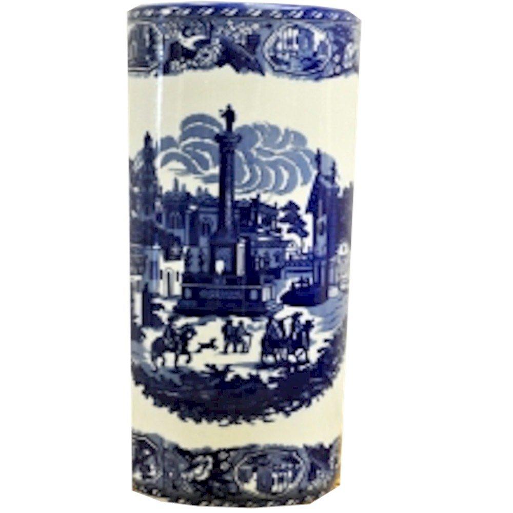 Color Azul y Blanco Minster Giftware Parag/üero Cuadrado de cer/ámica