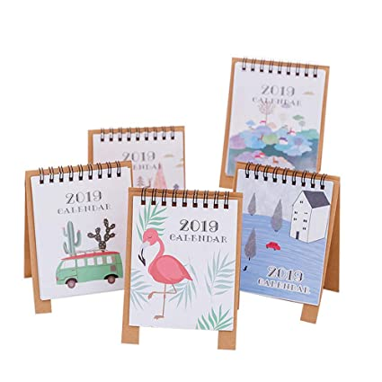 Amazon.com : 2019 Kawaii Cartoon Mini Flamingo Desktop Paper ...