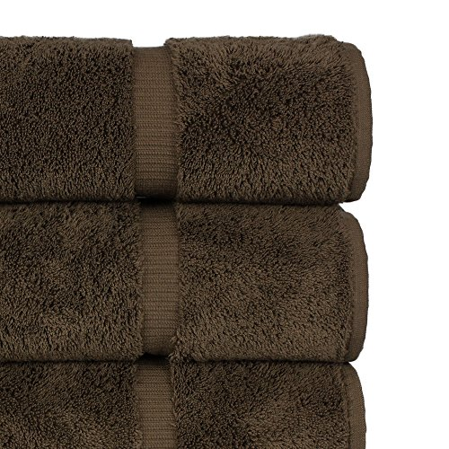 Luxury Premium long-stable Hotel & Spa Turkish Cotton 4-Piece Eco-Friendly Bath Towel Set (Cocoa) by Chakir Turkish Linens (Image #1)