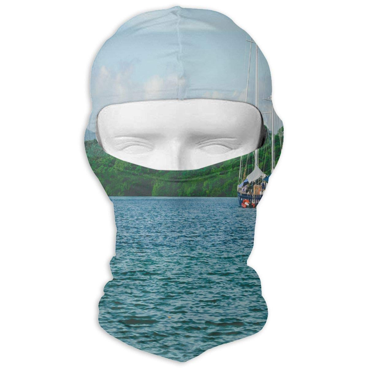 Balaclava Summer Floral Flowers Tropical Pineapples Full Face Masks UV Protection Ski Cap Womens Headwear for Cycling