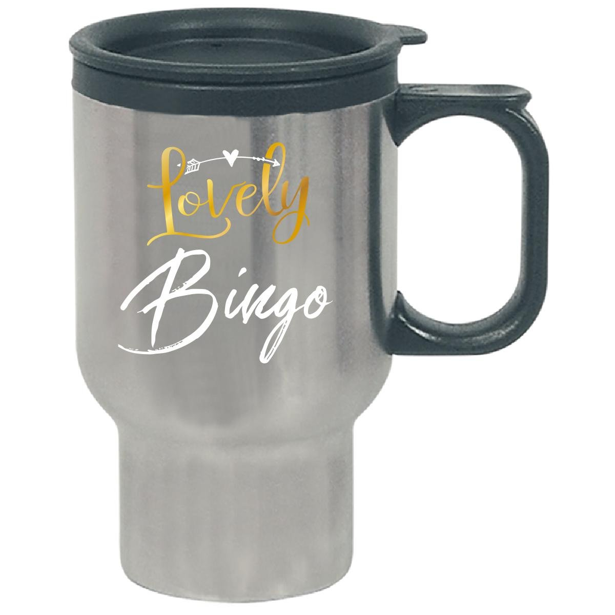 Lovely Bingo Name Gift Mothers Day Present Grandma - Travel Mug by My Family Tee