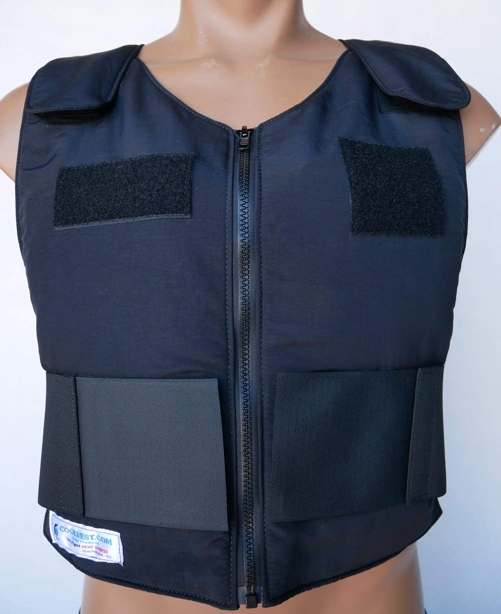 Glacier Tek Law Enforcement Cool Vest with Set of 8 Nontoxic Cooling Packs Black