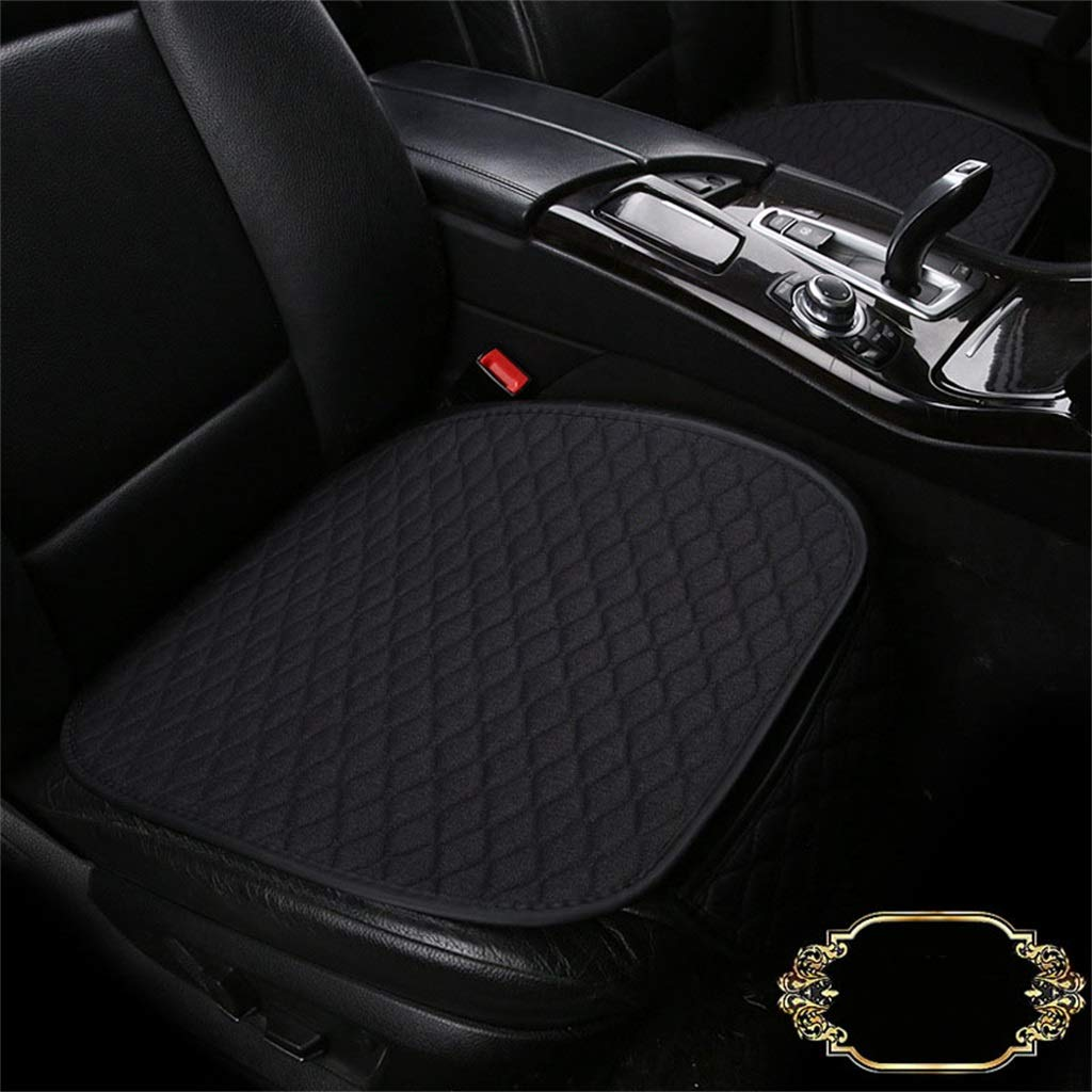Black Soft Car Seat Cover Cushion Pad Mat Predector for Auto Supplies for Sedan Hatchback SUV 1 Front Seat Covers