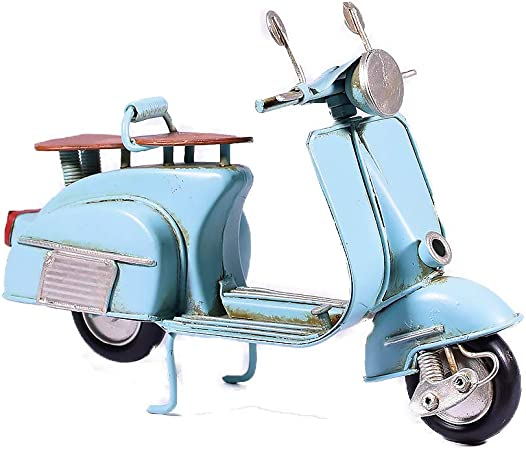 SCOOTER COLLECTABLE BLUE TIN MODEL OF A VESPA