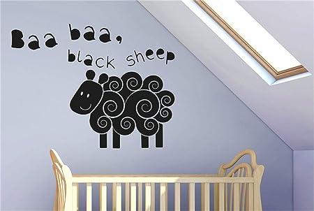 ramassé Beau design une grande variété de modèles autocollant mural stickers muraux 3d Baa Baa Black Sheep ...