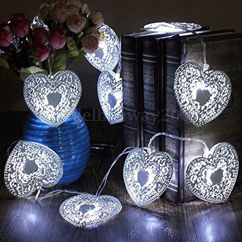 NPLE--10LED Heart Shaped Christmas String Light Festival Halloween Party Warm (History Halloween Lesson)