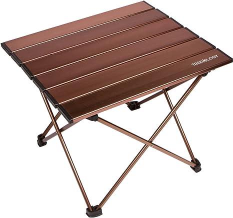 Tavoli Pieghevoli Da Barca.Trekology Tavolino Portatile Da Campeggio Con Piano In Alluminio