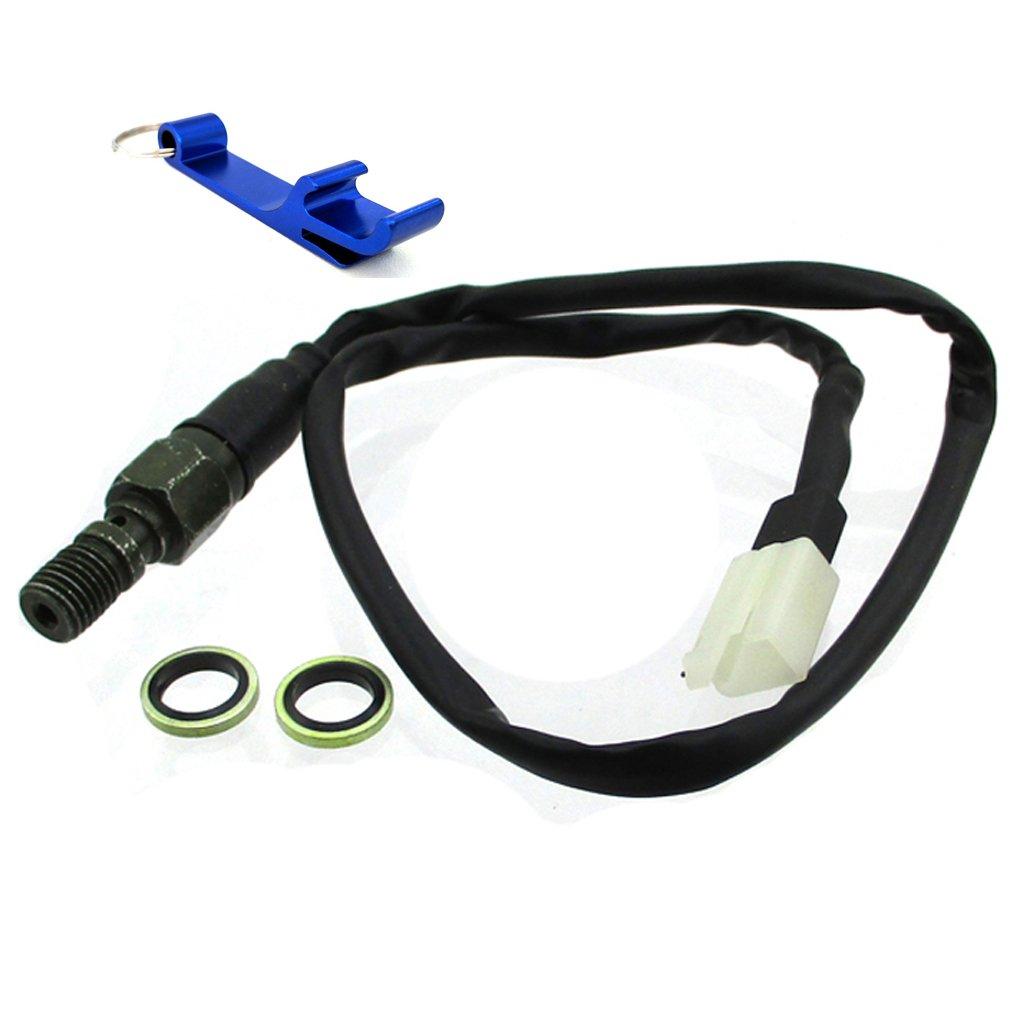 TC-Motor Straight Head M10x1.25 Male Plug Hydraulic Brake Light Switch For Nissin Brakes Honda Yamaha Kawasaki Suzuki YAMAHA WR250F WR450F WR426F WR450