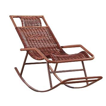 Amazon.com: Rocking Rattan Chair, Sun Lounge Chair for ...