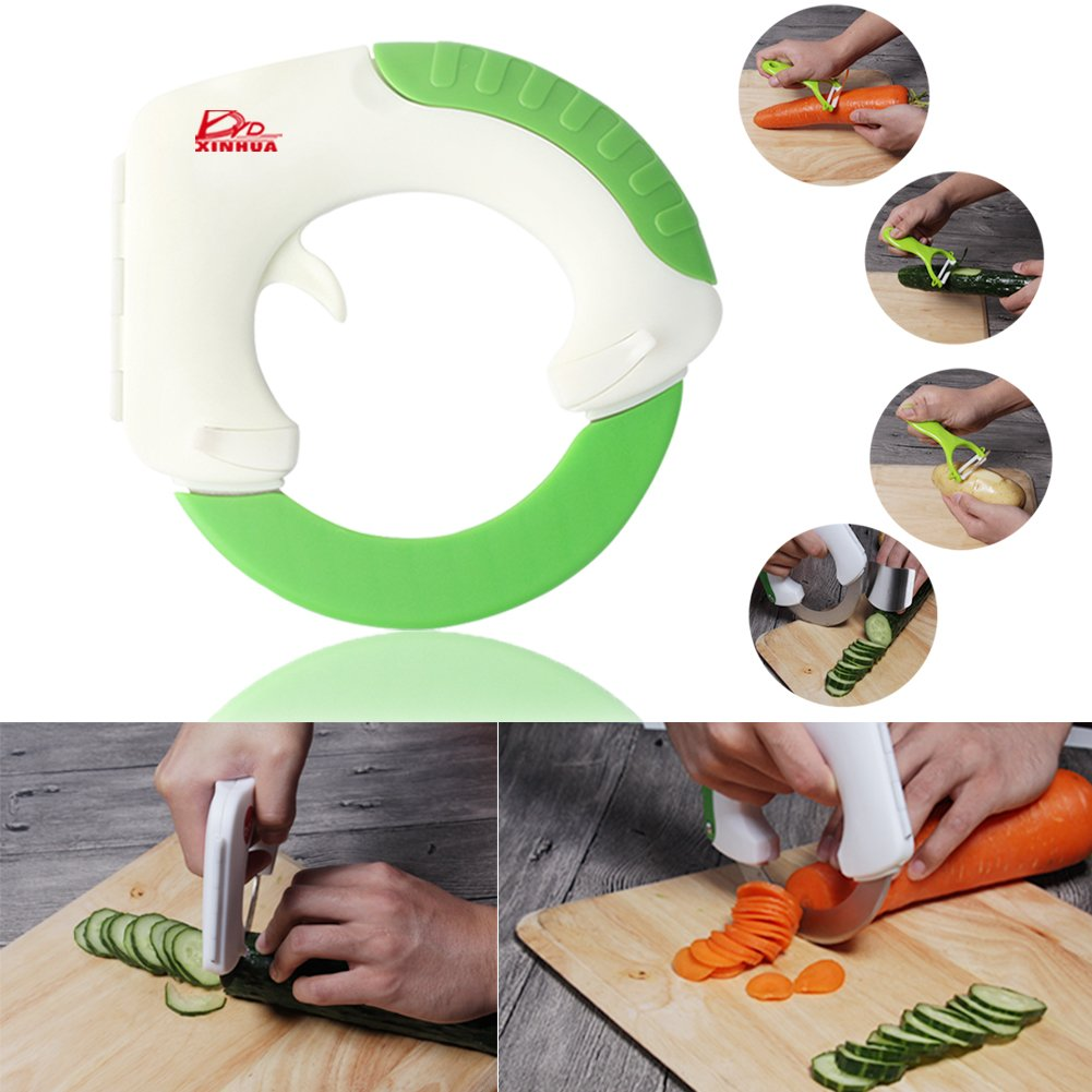 The Rolling Knife, Innovative Design of The Kitchen Circular Knife,Sharp Blade Cutting Vegetables, Meat, Pizza,Cake So Easy, Can Well Protect Your Wrist -Gift: Hand Protection
