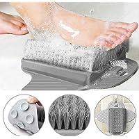 PERFETSELL Duschfotskrubbare masserare fotmassage duschborste med halkfria sugkoppar och mjuk, fotakupressur…