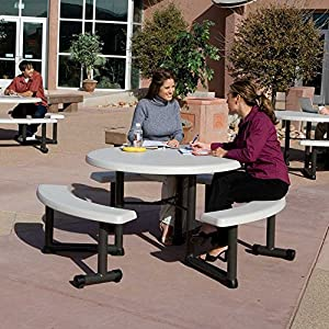 Lifetime Products 44 in. Round Picnic Table from Lifetime Products