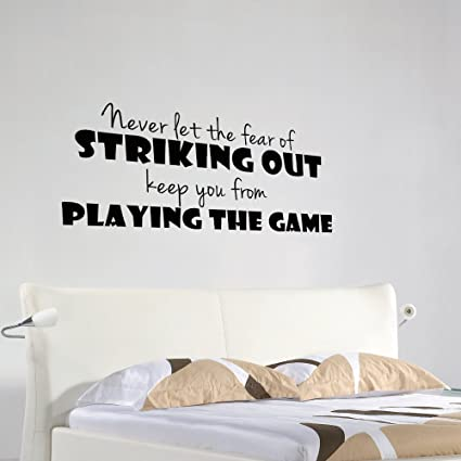 Amazon.com: Inspirational Vinyl Wall Decal Striking Out ...