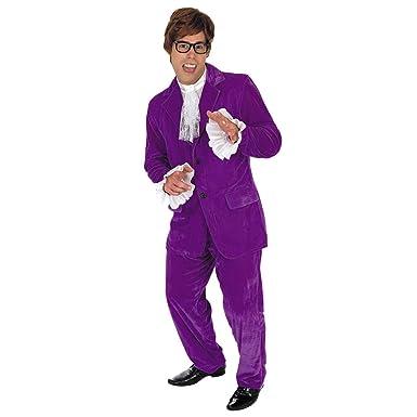99d1e9c15c96 Fun Shack Adult Austin Powers Purple Costume: Fun Shack: Amazon.co ...
