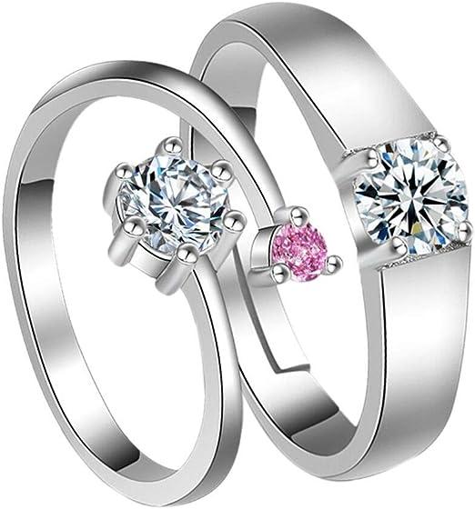 Romantic Women Rhinestone Inlaid Ring Wedding Engagement Anniversary Jewelry Lit