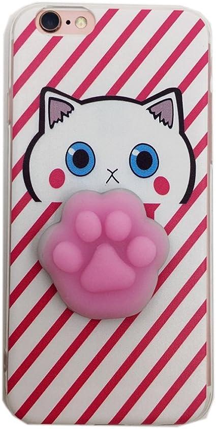 Cover iPhone SE, Squishy 3D Animal Animale Cat Gatto iPhone 5s Case, Cute Stress Silicone Fun kawaii Case Cover Custodia for iPhone 5s / iPhone 5 /SE ...