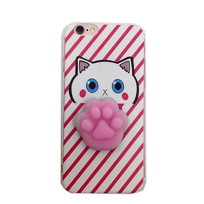 9 opinioni per Cover iPhone 7, Squishy 3D Animal Animale Cat Gatto iPhone 7 Case, Cute Stress