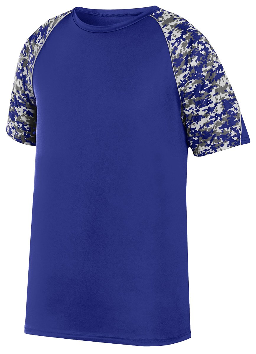 Augusta Sportswear Boys 'カラーブロックDigi Camo Jersey B01C5FSSGA Medium Purple/Purple Digi/Silver Purple/Purple Digi/Silver Medium