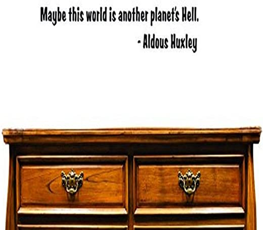 "Design with Vinyl US V SOS 557 2 Top Selling Decals Maybe This World Is Another Planet's Hell. -Aldous Huxley Wall Art Size: 12 Inches X 30 Inches Color: Black, 12"" x 30"""