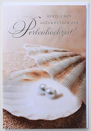 Gluckwunschkarte Perlenhochzeit 30 Jahre Hochzeitstag Amazon De