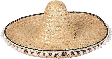 Sombrero Chapeau Mexicain en paille Accessoires,Carnaval,Déguisements,Fêtes