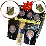 3dRose Danita Delimont - Waterfalls - Iceland, Seljalandsfoss Waterfall, Wildflowers - Coffee Gift Baskets - Coffee Gift Basket (cgb_277518_1)