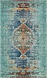 A2Z Rug Modern Contemporary & Traditional Design Rugs, Turquoise 5′ x 8′-Feet Milano Collection Area rug
