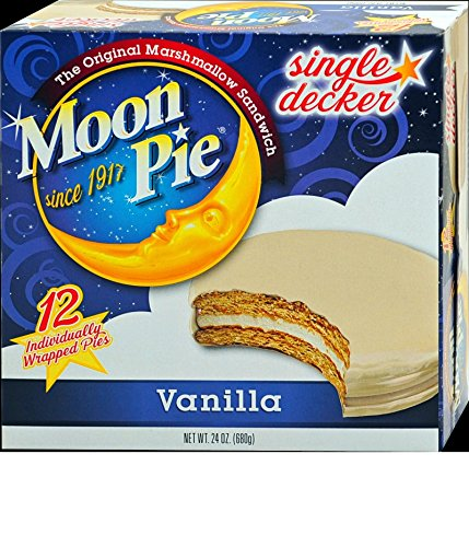 Single Decker Moonpies - Choose your favorite flavor - Chocolate, Vanilla, Banana & Salted Caramel (Vanilla) (Vanilla Pie)