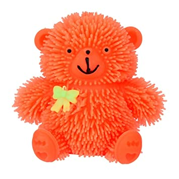 Mobile Phone Accessories Hard-Working 9cm Novelty Flashing Puffer Cute Bear Squidgy Sensory Toy Activity And Play Balls For Children Adults Relieves Stress Anxiety