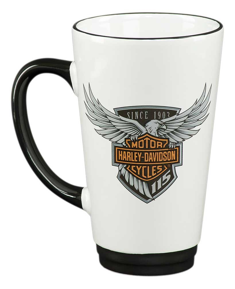 HDX-98601 Ace Branded Products 16 oz Harley-Davidson 115th Anniversary Limited Edition Latte Mug