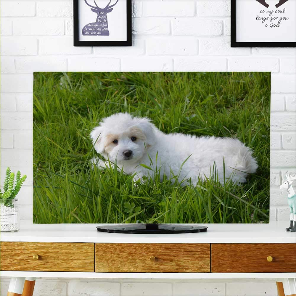 color09 W36 x H60 INCH TV 65\ color09 W36 x H60 INCH TV 65\ aolankaili TV dust Cover Cute Little pet Dog TV dust Cover W36 x H60 INCH TV 65