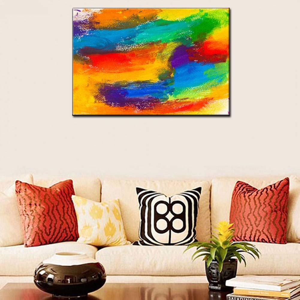 No Frame 70cmx120cm LQQQSHH 100% Peinture à l'huile Peinte à La Main Abstraite Moderne à La Main Lumineux Couleur Paysage Peinture à l'huile sur Toile pour Le Salon Décoratif à La Maison Mur Art Image