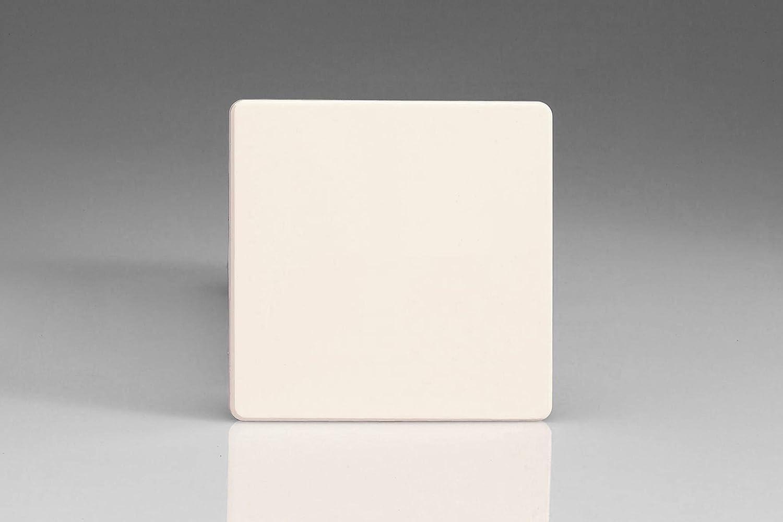 Varilight Primed Ready to Paint Flat Plate Screwless Single Blank Plate