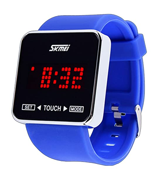 amstt Reloj Deportivo Hombre Mujer De Densidad de deportes de agua reloj LED Digital reloj de pulsera reloj/pantalla táctil/banda de silicona: Amazon.es: ...