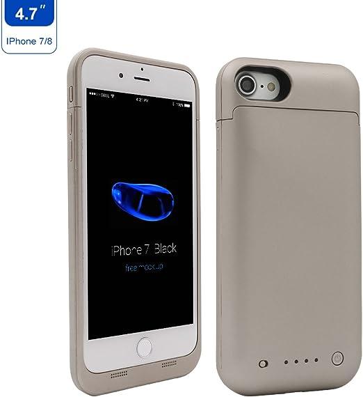 iPhone 7 / iPhone 8 Funda de Carga, 4.7 Pulgadas 4500 mAh portátil Smart Battery Case Externo Protección Cargador Banco de energía Juice Pack para Apple 7/8 Dorado: Amazon.es: Electrónica